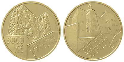 zlatá mince hrad Buchlov
