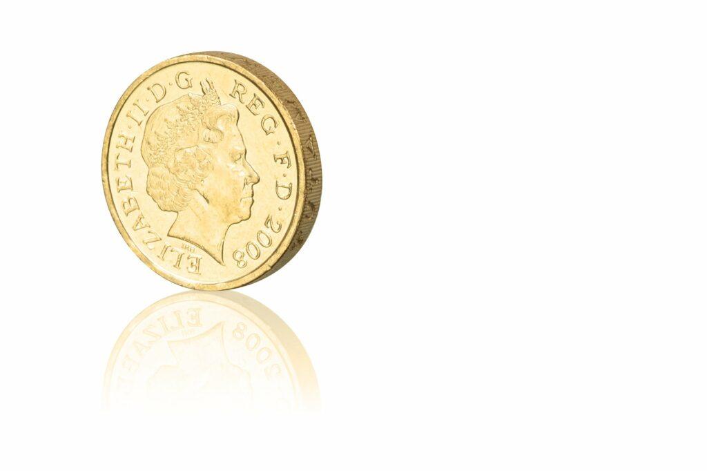 Ilustrační obrázek Britské mince